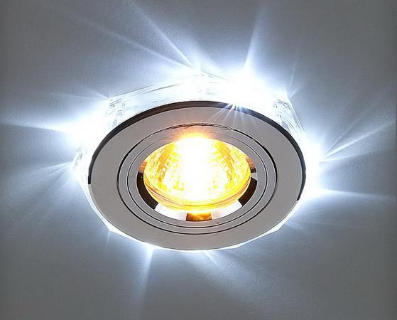 Встраиваемый светильник с двойной подсветкой Elektrostandard 2060 MR16 хром/белый 4690389007484 встраиваемый светильник с двойной подсветкой 2020 mr16 хром белый 4690389007491 elektrostandard 1168587