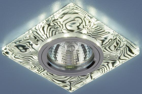 Встраиваемый светильник с двойной подсветкой Elektrostandard 8361 MR16 белый/черный 4690389060663 elektrostandard встраиваемый светильник с двойной подсветкой elektrostandard n4 s g4 multi мульти 4690389003189