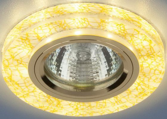 Встраиваемый светильник с двойной подсветкой Elektrostandard 8371 MR16 белый/золото 4690389060625 elektrostandard встраиваемый светильник с двойной подсветкой elektrostandard n4 s g4 multi мульти 4690389003189