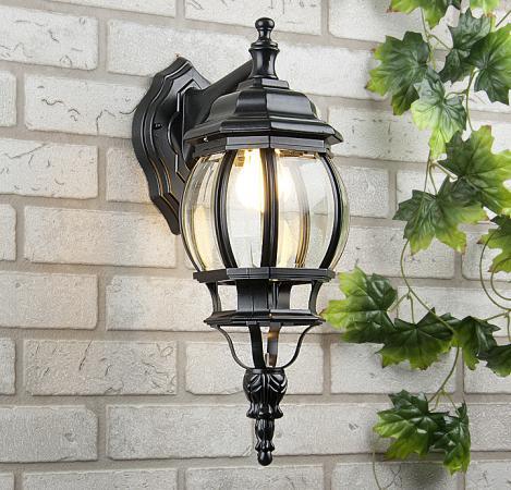 Уличный настенный светильник Elektrostandard 1001D черный 4690389076015 elektrostandard лампа светодиодная elektrostandard свеча на ветру сdw led d 6w 3300k e14 4690389085505