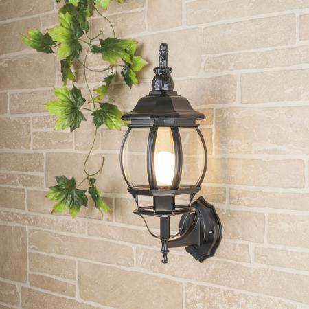 Купить Уличный настенный светильник Elektrostandard 1001U черный 4690389073755