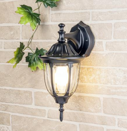 Уличный настенный светильник Elektrostandard 1002D черный 4690389076077 уличный светильник 1001s черный 4690389076053 elektrostandard 1168537