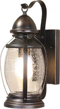 Уличный настенный светильник Elektrostandard Antares D черное золото 4690389064968 elektrostandard лампа светодиодная elektrostandard свеча на ветру сdw led d 6w 3300k e14 4690389085505