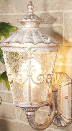 Уличный настенный светильник Elektrostandard Diadema U GLYF-8046U белое золото 4690389062131 садово парковый светильник elektrostandard diadema f 3 glyf 8046f 3 черное золото 4690389056949