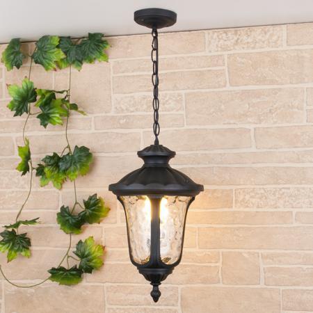 Уличный подвесной светильник Elektrostandard Carina H GLYF-1452H черный 4690389063121 уличный подвесной светильник sagitta h 4690389064807 elektrostandard 1168528