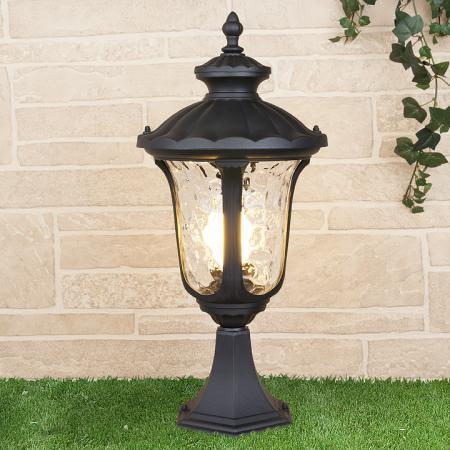 Уличный светильник Elektrostandard Carina S GLYF-1452S черный 4690389063145 уличный светильник 1001s черный 4690389076053 elektrostandard 1168537