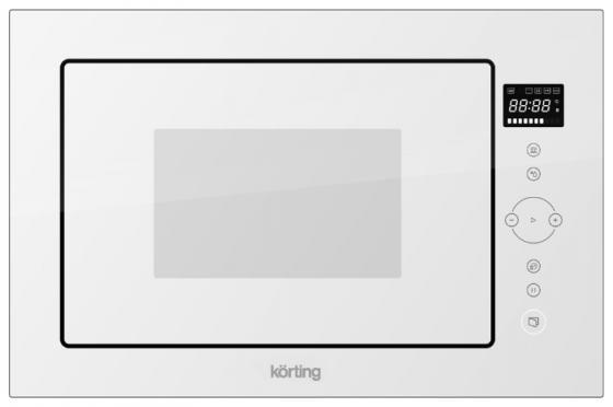 Встраиваемая микроволновая печь Korting KMI 825 TGW 900 Вт белый