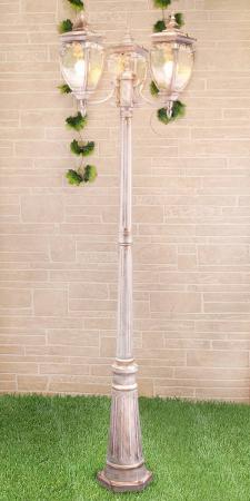 Садово-парковый светильник Elektrostandard Andromeda F/3 GLYF-8024F/3 белое золото 4690389082405 elektrostandard подвесной уличный светильник elektrostandard andromeda h glyf 8024h белое золото 4690389062087