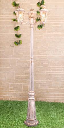 Садово-парковый светильник Elektrostandard Diadema F/3 GLYF-8046F/3 белое золото 4690389082504 elektrostandard светильник на столбе elektrostandard taurus f 3 малахит арт glxt 1458f 3 4690389065057