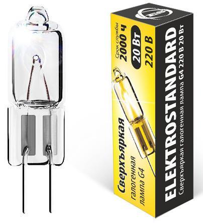 Лампа галогенная капсульная Elektrostandard G4 20W 4690389013638 elektrostandard лампа галогенная elektrostandard капсульная прозрачная g4 20w 3200k 4690389013638