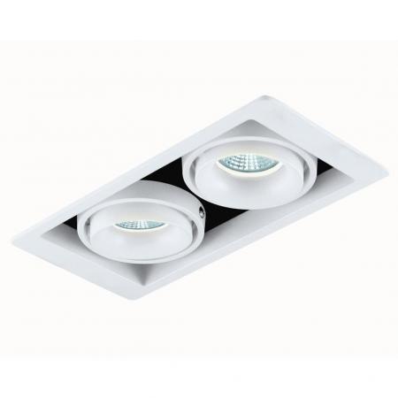 Встраиваемый светильник Donolux DL18615/02WW-SQ White/Black точечный светильник donolux dl18615 02ww sq white black