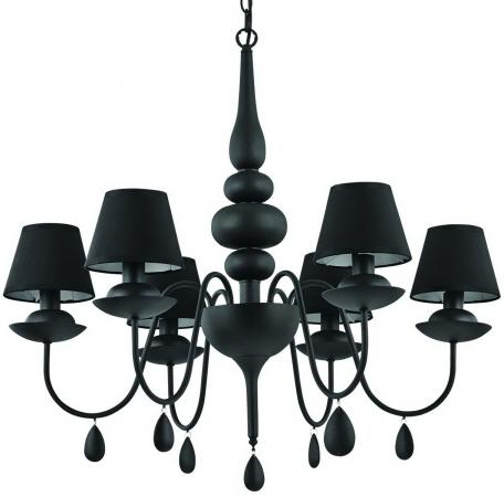 Подвесная люстра Ideal Lux Blanche SP6 Nero люстра ideal lux giudecca sp6 nero 032504