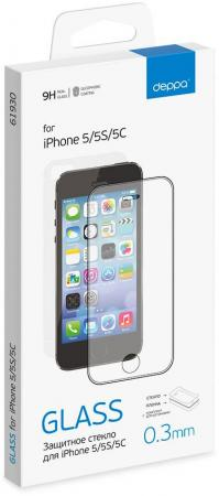 Защитное стекло прозрачная Deppa DEP-61930 для iPhone 5C iPhone 5S iPhone 5 0.33 мм от Just.ru