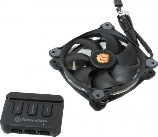 Вентилятор Thermaltake Fan Tt Riing 12 120x120x25 4pin 18.5-26.4dB цветная подсветка CL-F042-PL12SW-A free shipping 2pcs lot fdc10h12s9 c 86mm 0 35a 4pin for xfx r9 270x 280x 290x graphics card cooling fan
