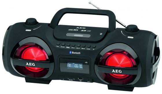 Магнитола AEG SR 4359 BT черный aeg mr 4139 bt schwarz bluetooth радиоприемник
