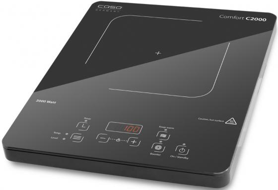 Индукционная электроплитка CASO C 2000 чёрный плитка индукционная caso slimline 2000