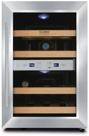 Винный шкаф CASO WineDuett 12 620 Caso Design by Braukmann Gmbh серебристый винный шкаф до 140 см caso wineduett 21