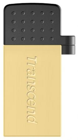 Флешка USB 8Gb Transcend Jetflash 380 OTG TS8GJF380G золотой transcend jetflash 300 8gb