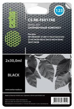 Заправка Cactus CS-RK-F6V17AE для HP DeskJet 2130 черный 60мл hp f6v17ae 123
