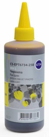 Чернила Cactus CS-EPT6734-250 для Epson L800/L810/L850/L1800 желтый 250мл чернила cactus epson l800 l805 l810 l850 l1800 светло пурпурный 250ml cs ept6736 250