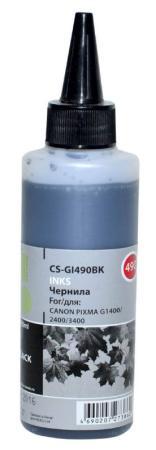 Чернила Cactus CS-GI490BK для Canon Pixma G1400 G2400 G3400 черный 100мл