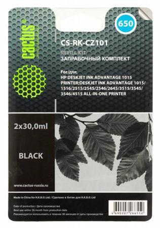 цена на Заправка Cactus CS-RK-CZ101 для HP DeskJet 2515/3515 черный 60мл
