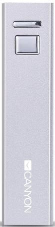 Портативное зарядное устройство Canyon CNE-CSPB26W Aluminium 2600мАч белый портативное зарядное устройство canyon cne cspb26go 2600мач золотистый