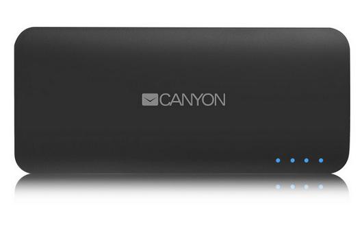 Внешний аккумулятор Power Bank 10000 мАч Canyon CNE-CPB100DG серый H2CNECPB100DG