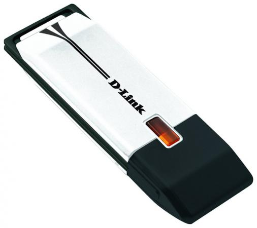 Беспроводной USB адаптер D-LINK DWA-160/RU/C1B 802.11n 300Mbps 2.4 или 5ГГц адаптер powerline d link dhp p308av c1b powerline адаптер с поддержкой homeplug av и встроенной электрической розеткой
