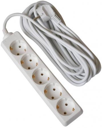 Удлинитель (02905) 5гн х 3м с/з Uniel Стандарт S-GCD5-3 совершенный свет удлинитель uniel садовый серии стандарт с з 1 гн шнур 20м с заглушкой