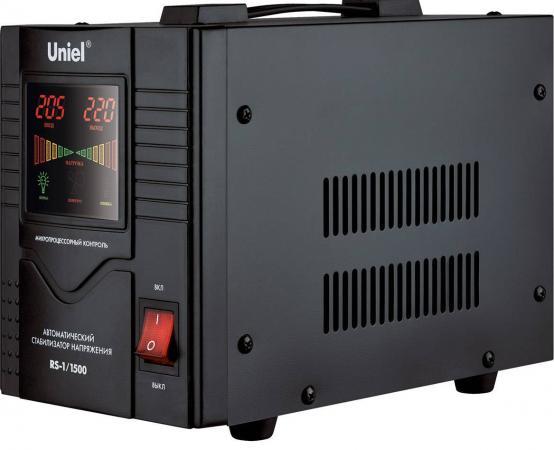 Стабилизатор напряжения Uniel (03109) 1500ВА RS-1/1500 стабилизатор напряжения uniel 03109 1500ва rs 1 1500