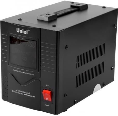 Стабилизатор напряжения Uniel RS-1/2000 1 розетка черный 03110 цена