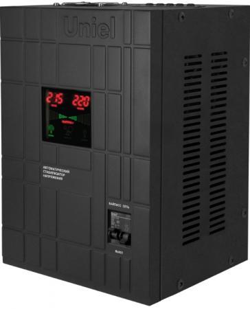 Стабилизатор напряжения Uniel (07384) 8000ВА RS-1/8000WS стабилизатор напряжения uniel 03107 500ва rs 1 500