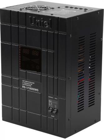 Стабилизатор напряжения Uniel (07385) 10000ВА RS-1/10000WS стабилизатор напряжения uniel 03107 500ва rs 1 500