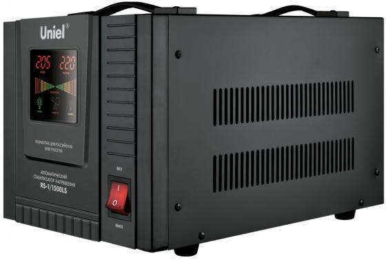 Стабилизатор напряжения Uniel (09498) 1500ВА RS-1/1500LS стабилизатор напряжения uniel 03107 500ва rs 1 500