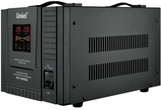 Стабилизатор напряжения Uniel RS-1/3000LS черный 09500