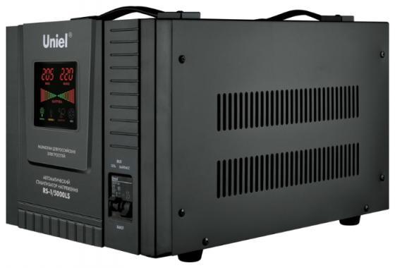 Стабилизатор напряжения Uniel (09501) 5000ВА RS-1/5000LS стабилизатор напряжения uniel 03107 500ва rs 1 500