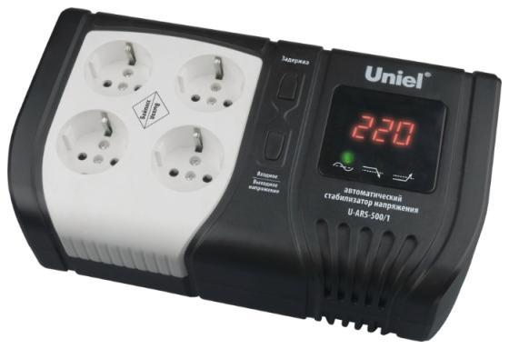 Стабилизатор напряжения Uniel Expert (09621) 500ВА U-ARS-500/1 стабилизатор напряжения uniel expert 09622 1000ва u ars 1000 1