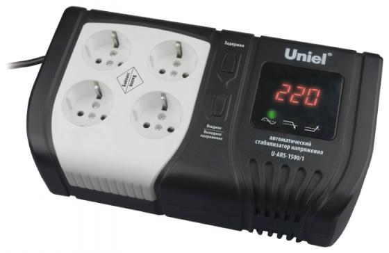 Стабилизатор напряжения Uniel Expert 09623 1500ВА U-ARS-1500/1  стабилизатор напряжения uniel expert 09622 1000ва u ars 1000 1