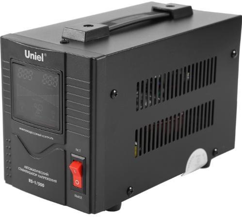 Стабилизатор напряжения Uniel (03107) 500ВА RS-1/500 стабилизатор напряжения uniel 03107 500ва rs 1 500
