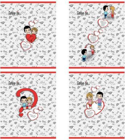 Тетрадь общая Action! Love is 96 листов клетка скрепка LI-AN 9618/5 в ассортименте тетрадь action клетка а5 80 листов в ассортименте