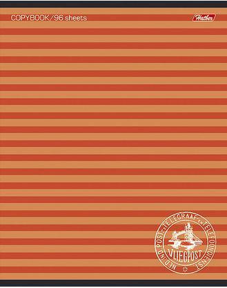 цена на Тетрадь общая Хатбер ПОЛОСОЧКИ 033678 96 листов линейка скоба 96Т5В2/ПОЛ в ассортименте 96Т5В2/ПОЛ