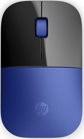 Мышь беспроводная HP Z3700 синий чёрный USB V0L81AA мышь hp z3700 wireless cardinal red cons v0l82aa