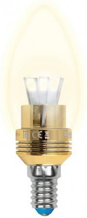 Лампа светодиодная свеча Uniel Crystal Gold E14 5W 3000K LED-C37P-5W/WW/E14/FR ALC02GD led светильник philips led e14 3 5w led led