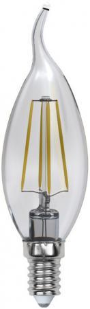 Лампа светодиодная (UL-00000200) E14 6W 3000K свеча на ветру прозрачная LED-CW35-6W/WW/E14/CL PLS02W лампа светодиодная ul 00000200 e14 6w 3000k свеча на ветру прозрачная led cw35 6w ww e14 cl pls02w