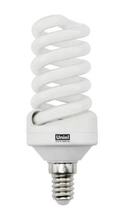 Лампа энергосберегающая спираль Uniel ESL-S11-20/2700/E14 E14 20W 2700K