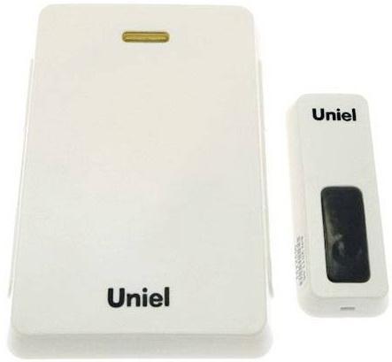 Звонок дверной беспроводной Uniel UDB-005W-R1T1-32S-100M-WH белый 03609