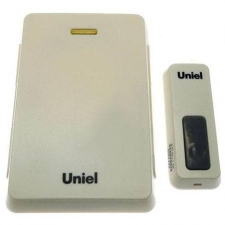 Звонок беспроводной (03610) Uniel UDB-005W-R1T1-32S-100M-LS звонок электрический беспроводной светозар любимая мелодия 58075