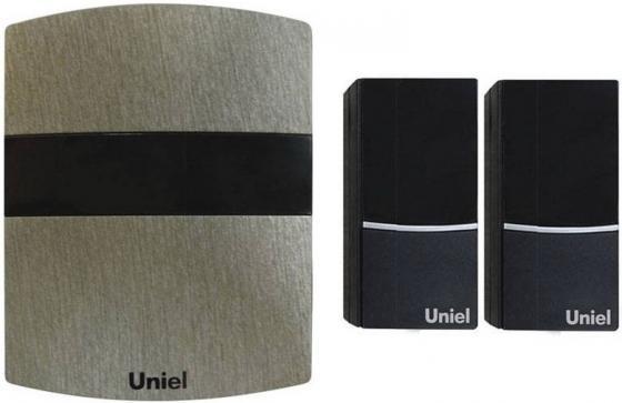 Звонок дверной беспроводной Uniel серебристый UDB-004W-R1T2-32S-100M-DS звонок дверной беспроводной uniel белый черный udb 004w r1t2 32s 100m sl