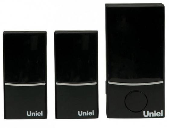 Звонок беспроводной (05469) Uniel UDB-090W-R1T2-32S-100M-BL звонок дверной беспроводной uniel белый черный udb 004w r1t2 32s 100m sl